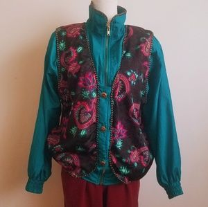 Bocoo Vintage Neon Paisley Jacket